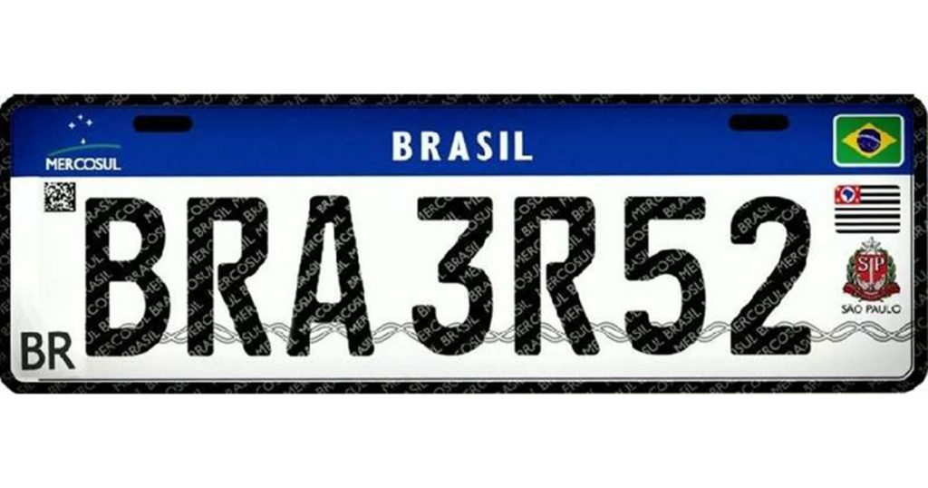 Comunicado sobre as novas placas de carros do Brasil (padrão Mercosul)